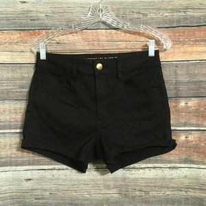 American eagle hi rise shortie shorts